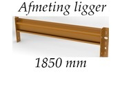 Afmeting liggers 1850 mm