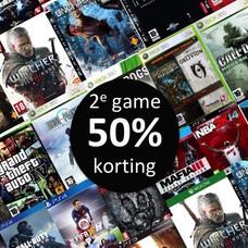 50% korting op je 2e gebruikte game