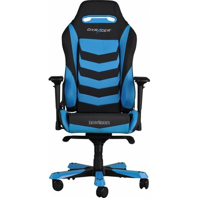 Gear DXRacer - IRON I166-NB Gaming Chair (Zwart / Blauw)