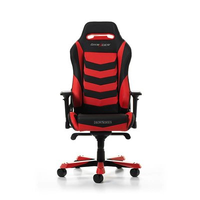 Gear DXRacer - IRON I166-NR Gaming Chair (Zwart / Rood)