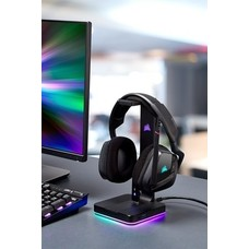 PC Corsair Gaming - ST100 RGB Premium Headset Stand with 7.1 Surround Sound