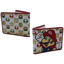 Game Merchandise Nintendo - Mushroom Patroon met Mario - Bifold Portemonnee