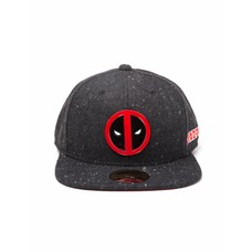 Game Merchandise Deadpool - Metal Badge Logo - Pet - Snapback - Zwart