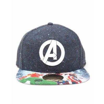 Game Merchandise Marvel - Avengers Logo with Comic Print Snapback