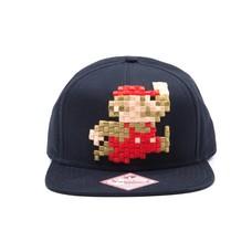 Game Merchandise Nintendo - Mario 8 Bit Pixel Snapback / Pet (Zwart)