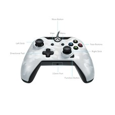 Xbox One / PC PDP Wired Controller, Wit Camouflage