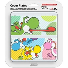 3DS New 3DS Coverplate 028 Multicolor Yoshis