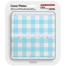 3DS New 3DS Coverplate 013 Ruit Blauw
