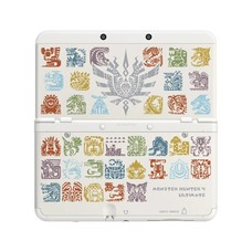 3DS New 3DS Coverplate Monster Hunter 4 Ultimate (White)