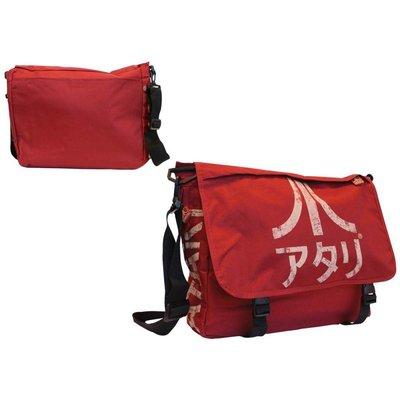 Game Merchandise Atari - Messenger Bag met Japanese Logo (Dark Red)