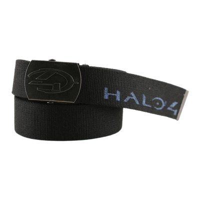 Game Merchandise Halo - Printed Poly Web Belt Antique '4' Logo - Zwart