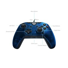 Xbox One / PC PDP Wired Controller, Blauw