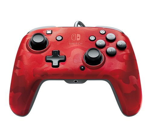 PDP Gaming Faceoff Deluxe Switch Controller - Red Camo (+ Audio)
