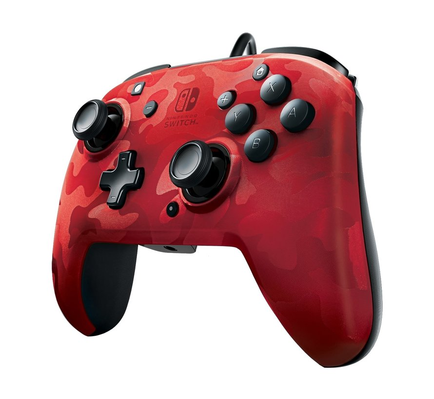 Faceoff Deluxe Switch Controller - Red Camo (+ Audio)