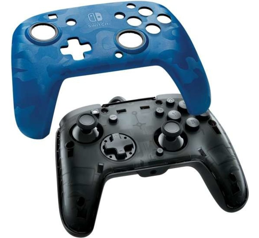 Faceoff Deluxe + Switch Controller - Blue Camo