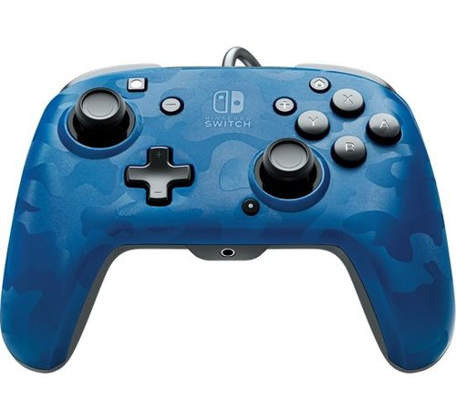 PDP Gaming Faceoff Deluxe + Switch Controller - Blue Camo