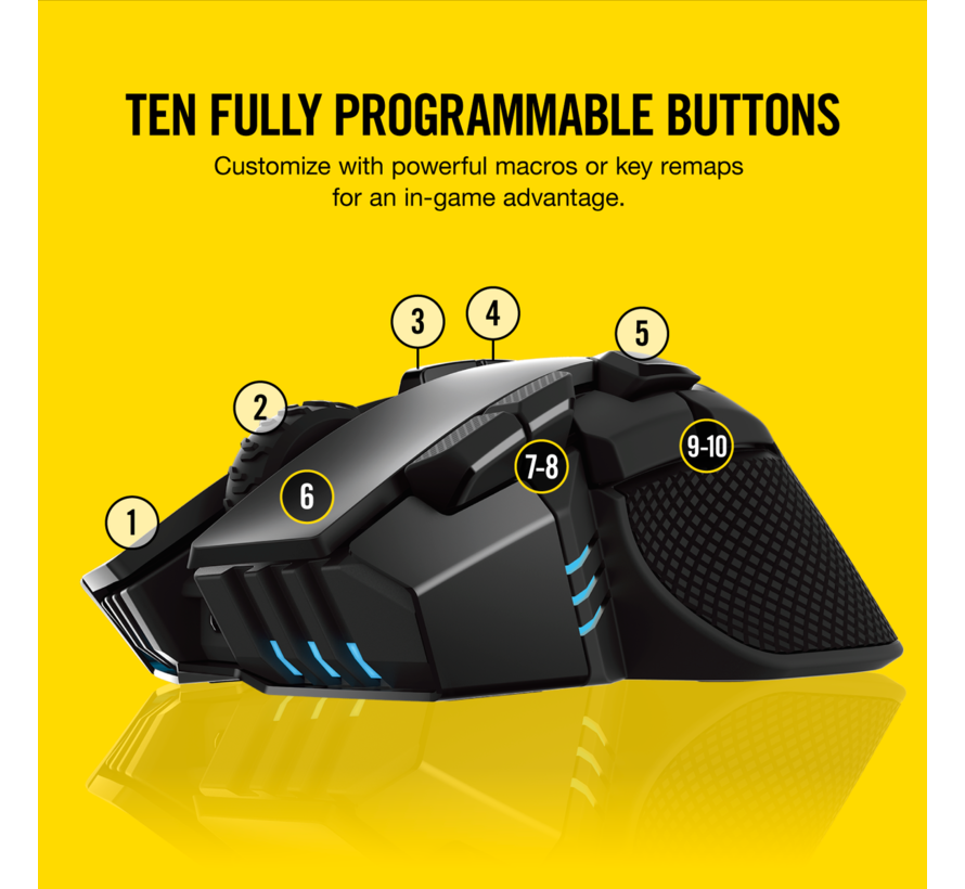 Draadloze Ironclaw RGB Gaming Muis - Zwart