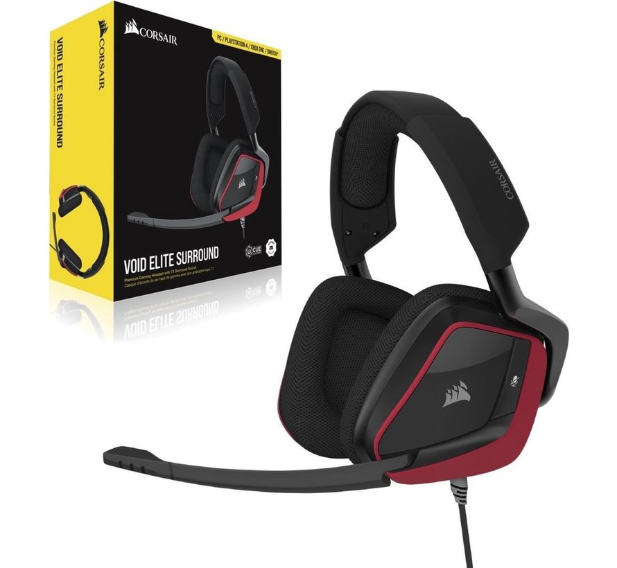 Void Elite Surround Gaming Headset - Rood