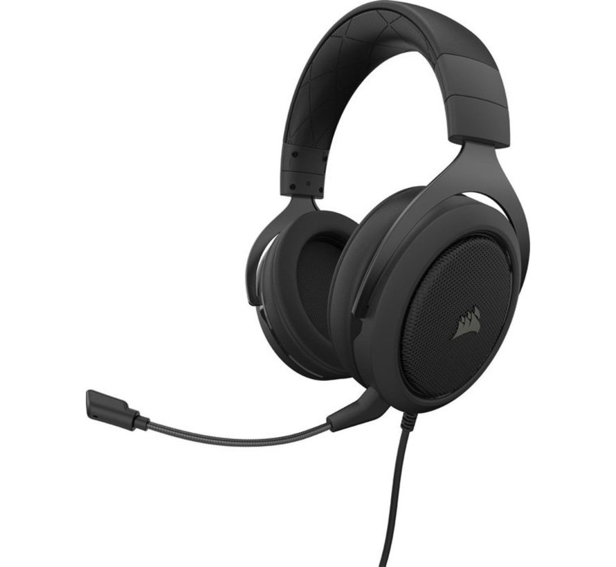 Corsair HS50 Pro Stereo Gaming Headset 3.5mm Jack - Carbon (PS5/PS4/Xbox Series X/Xbox One/PC/Nintendo Switch/Mobile Devices)