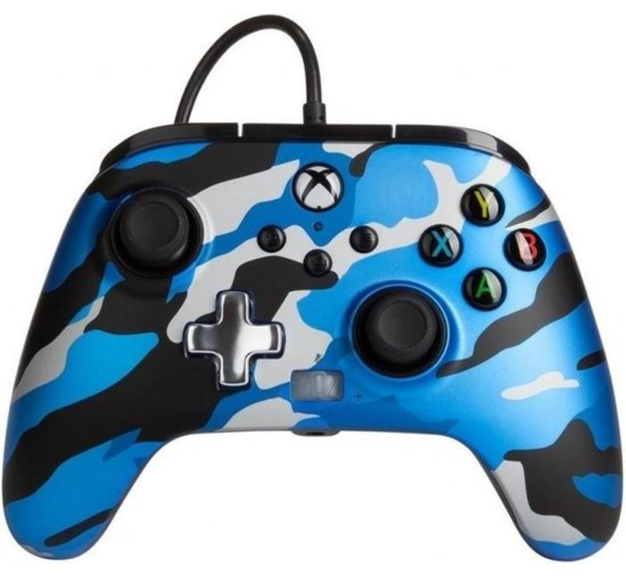 POWER A - Wired Controller Enhanced - Camo Blue Xbox Series X