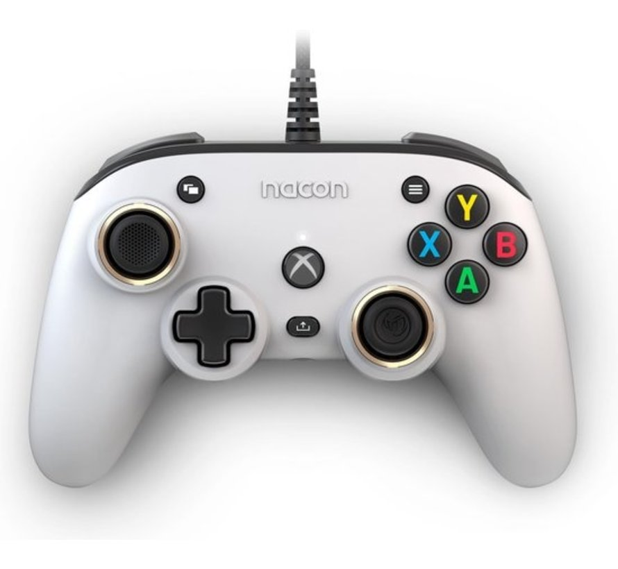 Bigben Nacon Wired Official Pro Compact Controller with Atmos Code - White (Xbox Series X) kopen