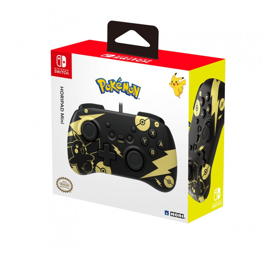 Switch Mini Controller - Pikachu Black + Gold