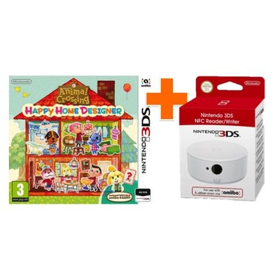3DS Animal Crossing: Happy Home Designer + NFC Reader