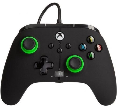 Power A Wired Controller Enhanced - Black/Green Xbox Series X