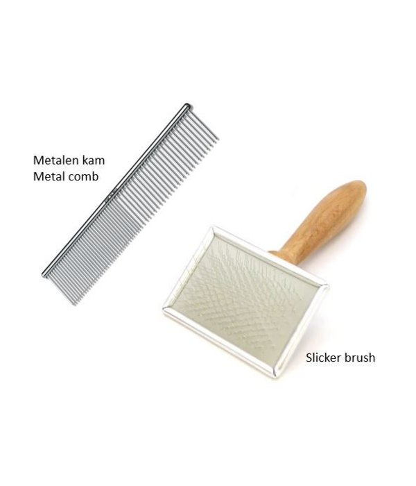 Slicker brush and Comb for cats