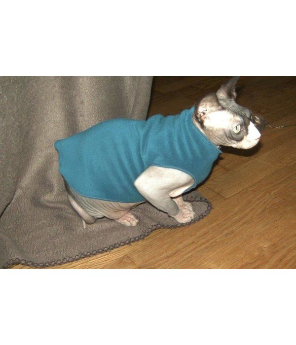 Cat Shirt Stretch Fleece - Katten kleding DeLuxe
