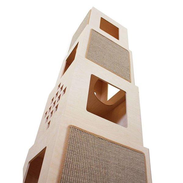 Maya Tower Klim- en Krabpaal, 4 cubes  - Toonzaalmodel (enkel ophaling)