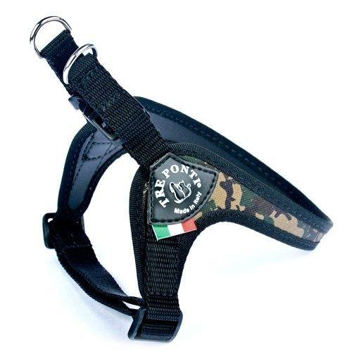 Tre Ponti Fibbia Verstelbaar Hondentuig Army-Camouflage