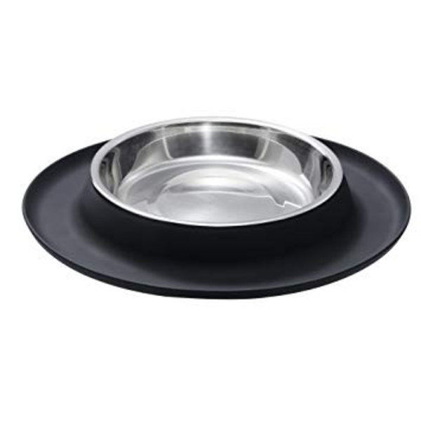 Cat Bowl Black Silicon Base