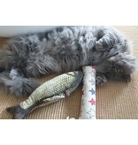 Tabby Tijger Cat Kicker with herbs of choice - Refillable