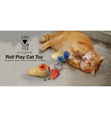 Roll Play Cat Toy, voerbal en kruidenhouder