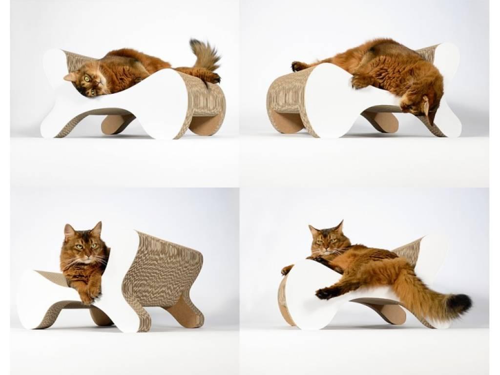 Griffoir Chat Carton Design molecular fauteuil - purrfect design