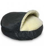 SnooZer Cozy Cave Luxury Microsuède Small (63cm) Truly Orthopedic