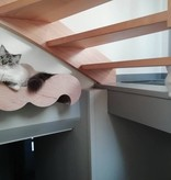 Moustache Wall - high spot and scratch post for cats