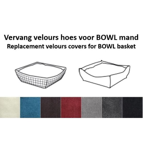 Replacement cover BOWL basket cushions
