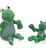 HuggleHounds Frog Knottie (2 maten)
