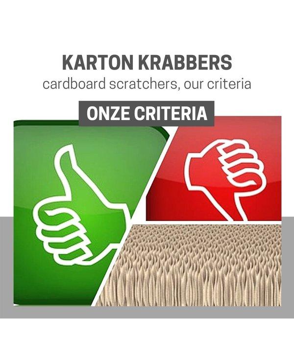 INFO: Cardboard  scratchers, our criteria