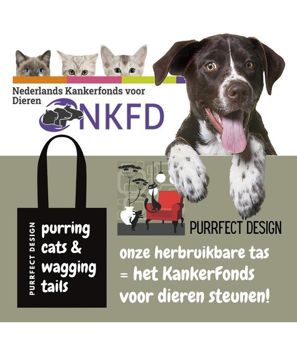 Steun het KankerFonds voor Dieren met onze PurrFect Design draagtas