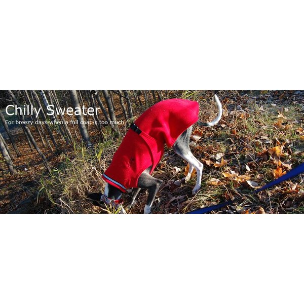 Chilly Sweater Fleece Coat- Greyhound / Long & Lean breeds