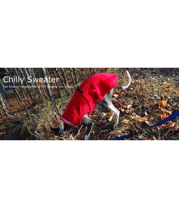 Chilly Dogs Chilly Sweater Fleece Coat - Greyhound / Long & Lean breeds