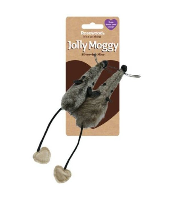Jolly Moggy Silvervine Mice (per 2)