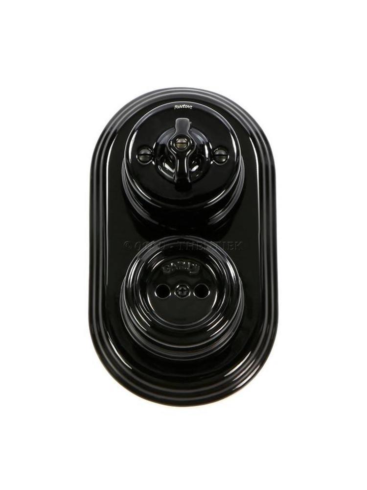Porselein stopcontact opbouw 1910