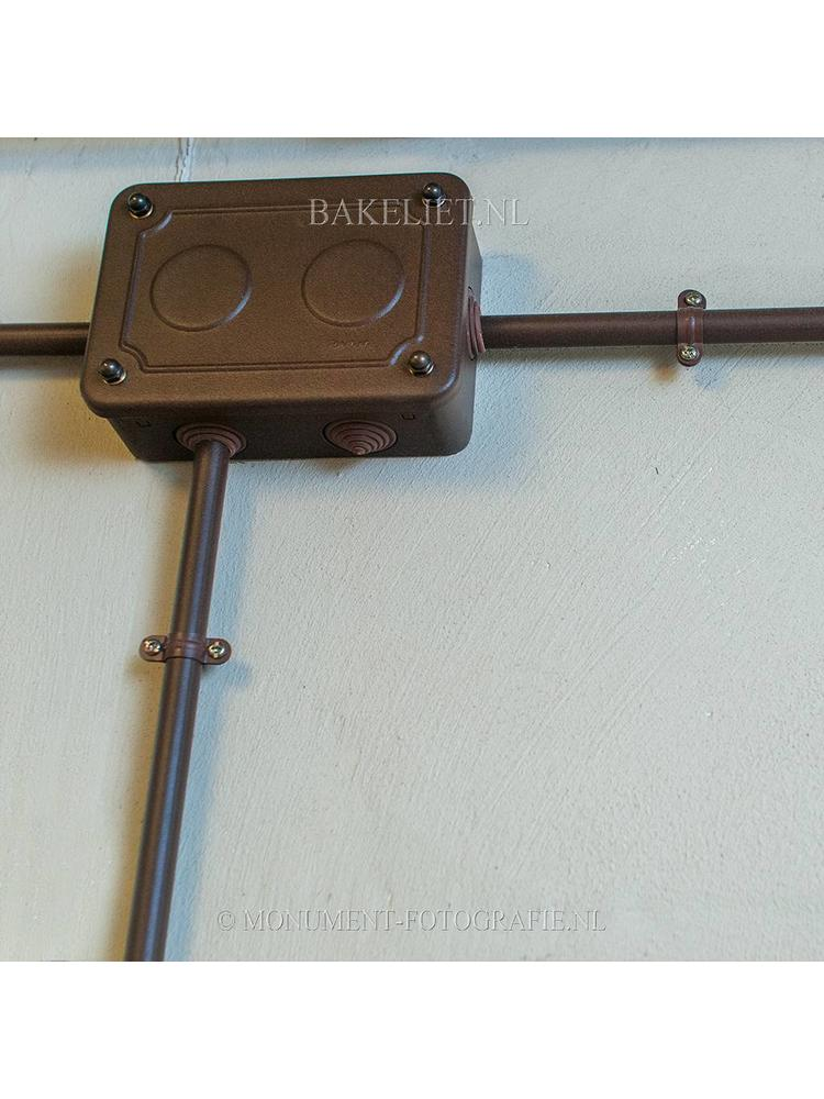Centraaldoos metaal roestkleur Ø 16 tot 20 mm
