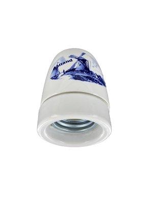 Fitting porselein Delfts blauw