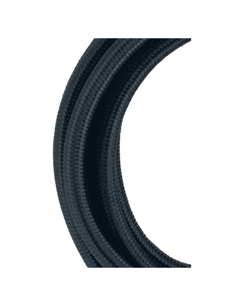 Textielkabel 3 meter zwart