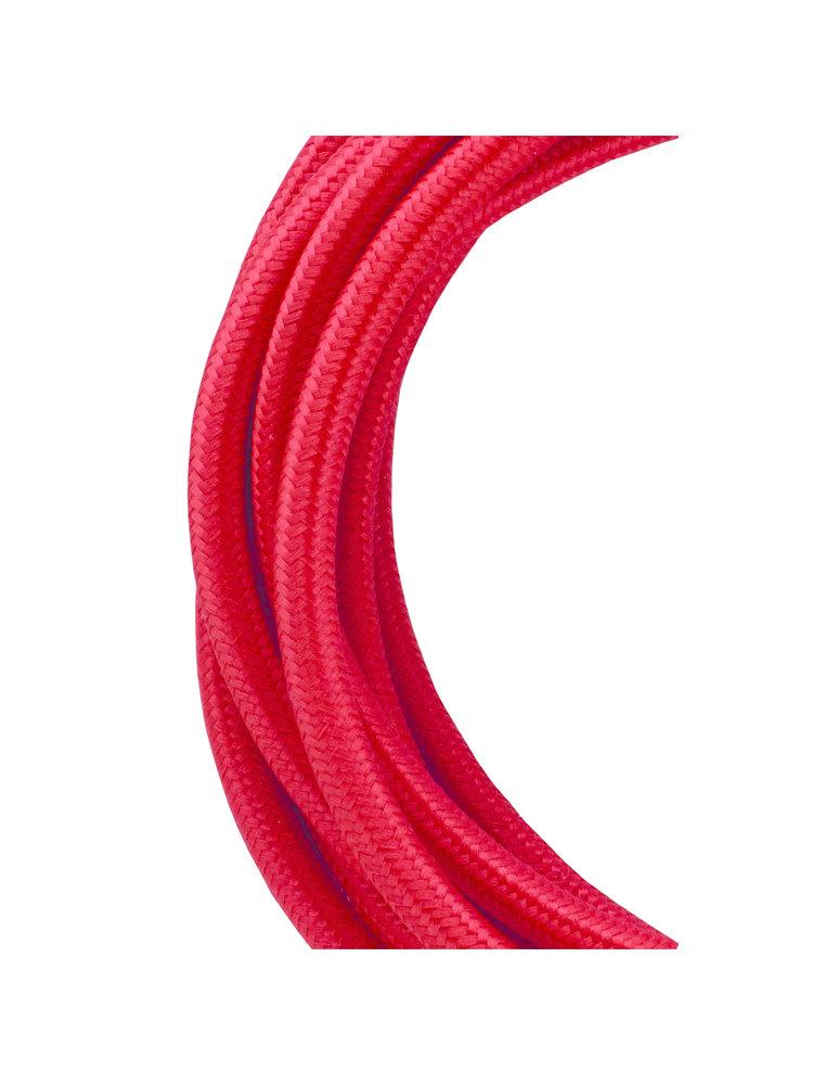 Textielkabel 3 meter rood